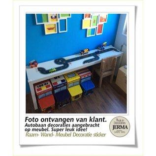 Walldecor Autobaan sticker set voor op de muur-, meubeldecoraties.