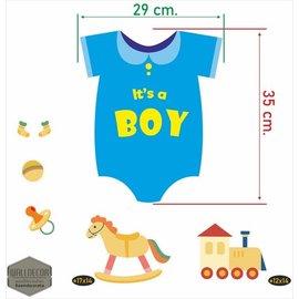 Walldecor Geboorte raamstickers Its a Boy.