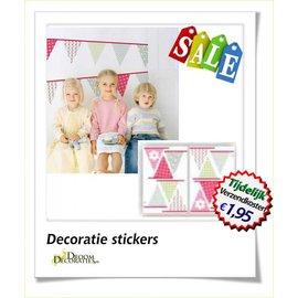 Uitverkoop SALE Kinderkamer vlaggetjes decoratie stickers
