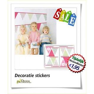 Kinderkamer Vlaggen muurdecoratie stickers