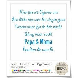JERMA Tekst: Kleertjes uit pyjama aan