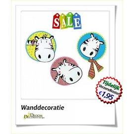 Uitverkoop SALE Wanddecoratie set Zebra