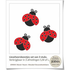 JERMA Lieveheersbeestjes set decoraties.