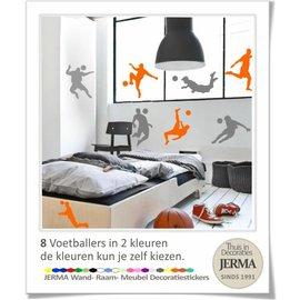 JERMA Voetballers set van 8 stuks.