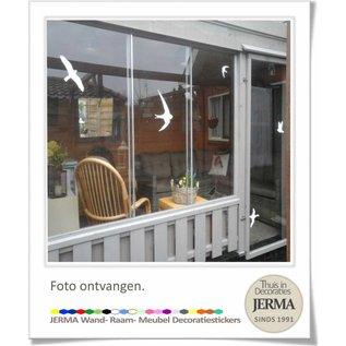 JERMA vogelbescherming,raam vogel,vogelsticker,vogel sticker,raamsticker vogel
