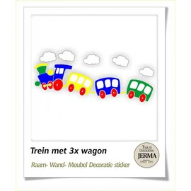 JERMA Trein met wagon decoratie.
