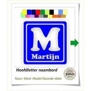 JERMA kinderkamer Naambord decoratie sticker Hoofdletter met naam jongens kAMER decoratie stickers