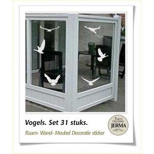 JERMA Vogels bescherming raamstickers windschermsticker vogelbescherming raam plakkers waindschermsticker