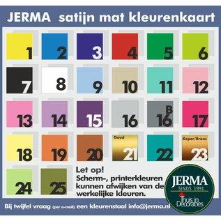 JERMA Muursticker met recept voor appeltaart, met 8 appels en de tekst Oma's Appeltaart.