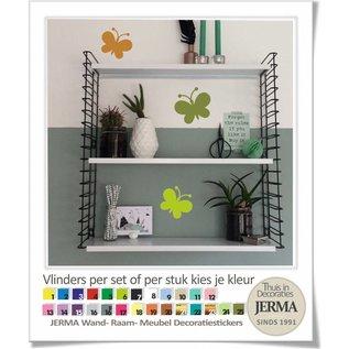 JERMA Vlinder decoratiesticker wandsticker meubelsticker raaamdecoratie