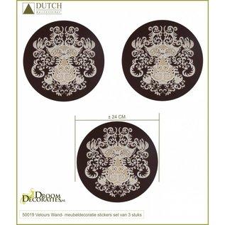 Dutch velours- flock decoratiestickers Oriental