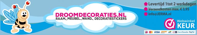 Droomdecoraties, Babykamer, tienerkamer voor decoraties stickers voor thuis of project.
