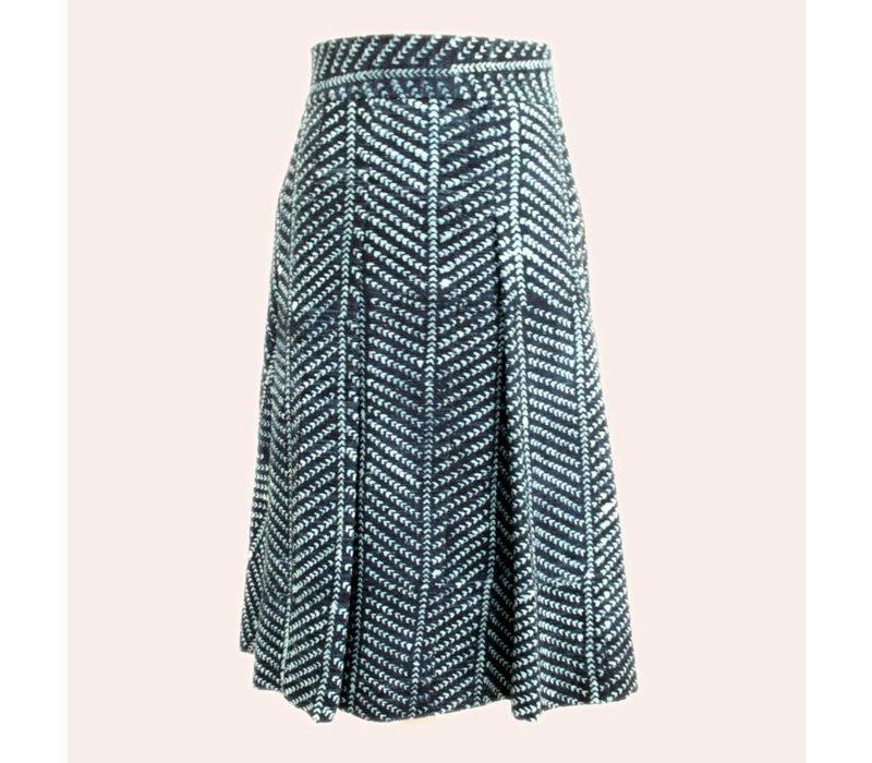 skirt Indigo stripe
