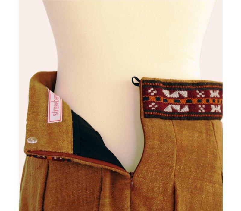 skirt Bogolan (brown uni)
