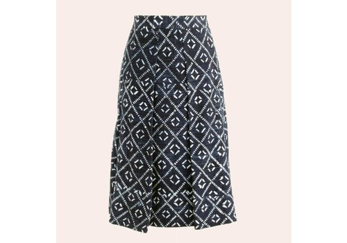 skirt indigo dessin danois square