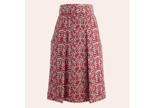 skirt nakshi kantha met rode blockprint