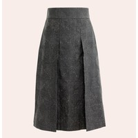 skirt Nakshi Kantha-black with yellow thread