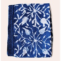 Nakshi kantha shawl (indigo)