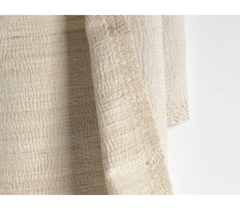Verfijnde shawl  van zijde/katoen
