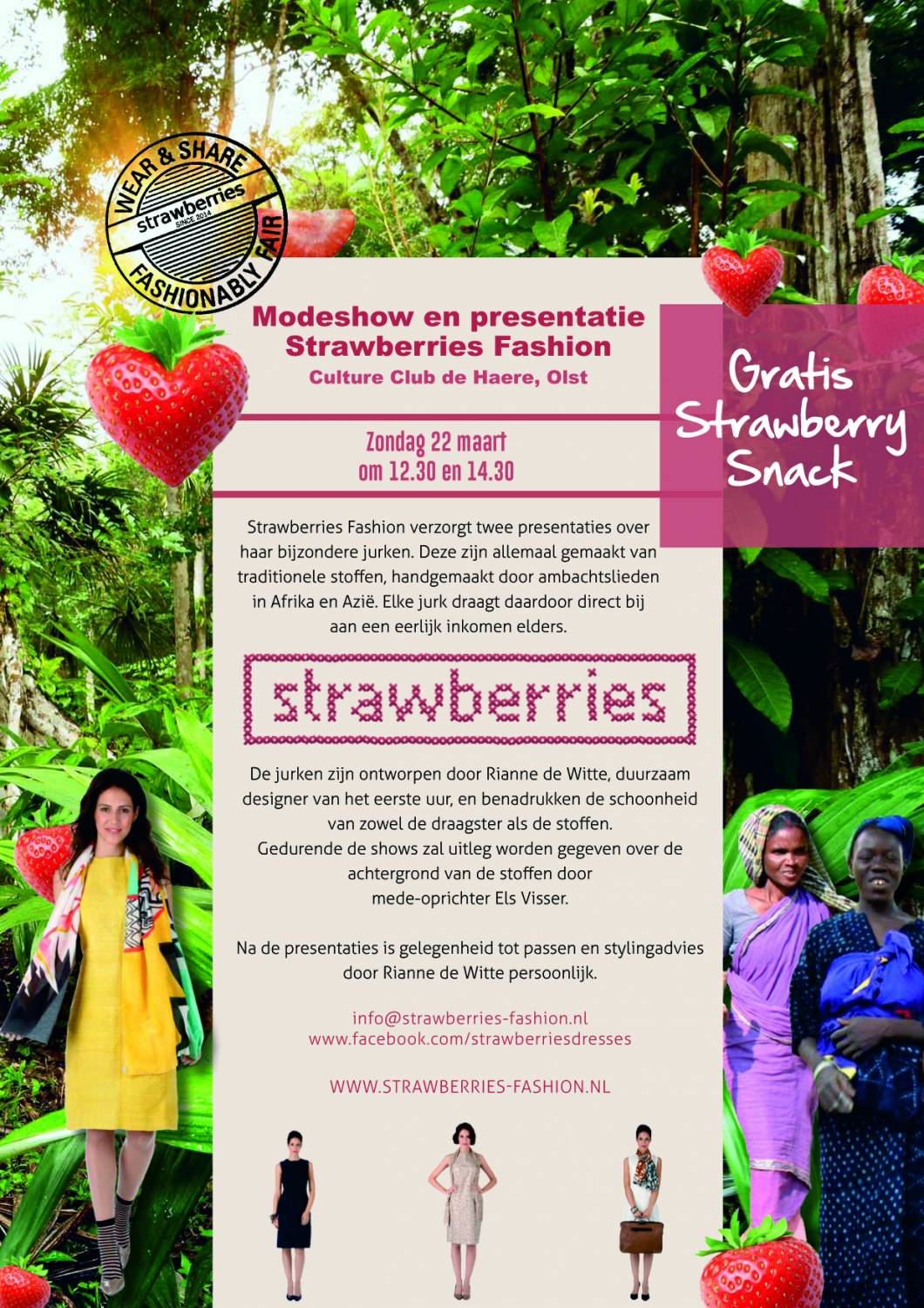 UITNODIGING MODESHOW EN PRESENTATIE STRAWBERRIES FASHION