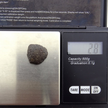 Individueel georiënteerde NWA 869 meteoriet -