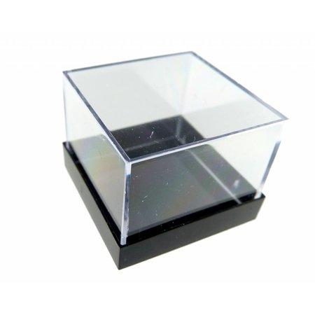 opbergdoosje 2,5 x 2,5 cm - zwart