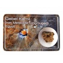 Gebel Kamil meteoriet in doosje