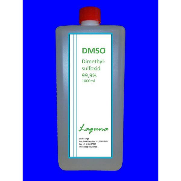 DMSO 1000 ml Dimethylsulfoxid in HDPE Schraubverschlussflasche, laborrein 99,9 %