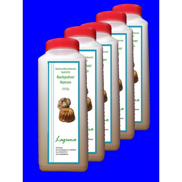 5 kg Natron, Natriumhydrogencarbonat, beste Lebensmittelqualität, Backpulver