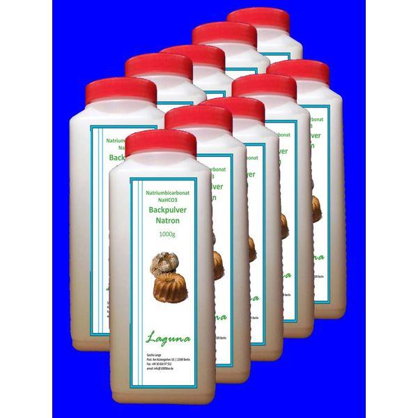10 kg Natron, Natriumhydrogencarbonat, beste Lebensmittelqualität, Backpulver