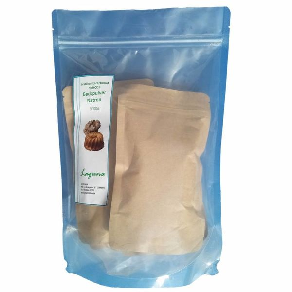 1 kg Natron, Natriumhydrogencarbonat, beste Lebensmittelqualität, Backpulver