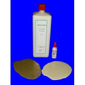 1 Liter LATEX Natur + 20ml Mixol Weiß Latexmilch Naturgummi Flüssig flüssiges Liquid Gummimilch