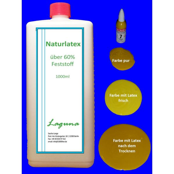 1 Liter LATEX GELB Latexmilch