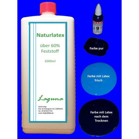 1 Liter LATEX blau Latexmilch