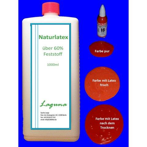 1 Liter LATEX orange Latexmilch