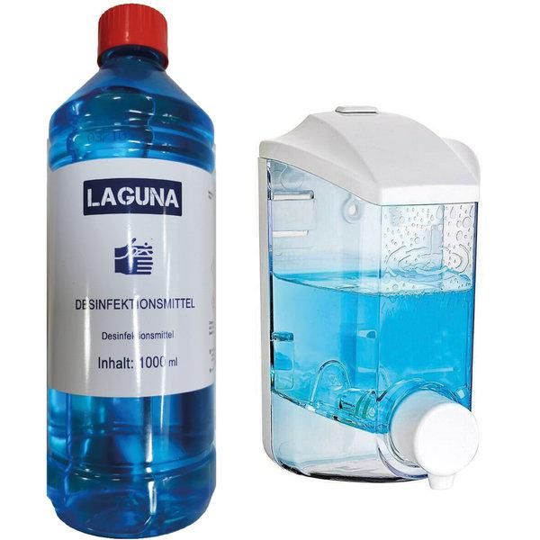 Laguna 100 x 1L Desinfektionsmittel Laguna DesVir 1000ml + Spender
