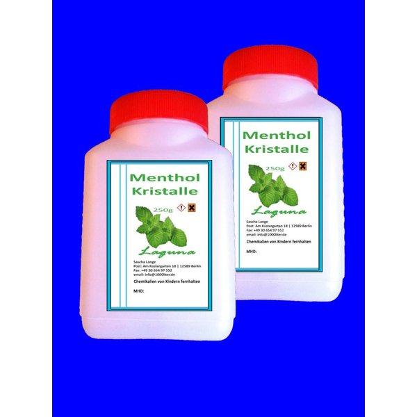 Laguna 1000 g Menthol Mentholkristalle Minze pharmazeutische Qualität für Saunaaufguß