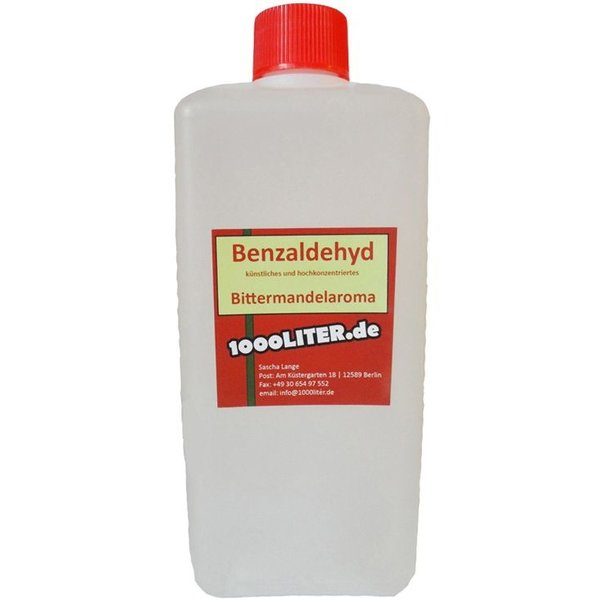 LAGUNA 500 ml Benzaldehyd - Bittermandel Öl Marzipan Mandelaroma Amaretto Backaroma
