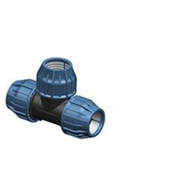 3 STück PP Klemmverbinder 32mm, 25mm, 32mm Rohrverbinder T Stück Reduzierstück für PE Rohr DVGW TrinkwasserPN16