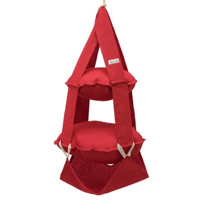 The Cat's Trapeze 2p trapeze jute red
