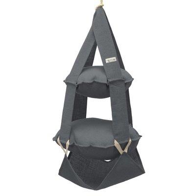 2p trapeze jute grey