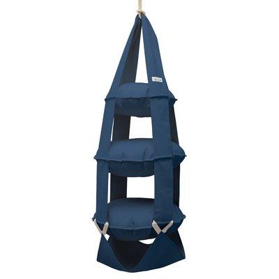 3k trapeze katoen blauw