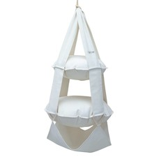 2k trapeze katoen gebleekt (wit)