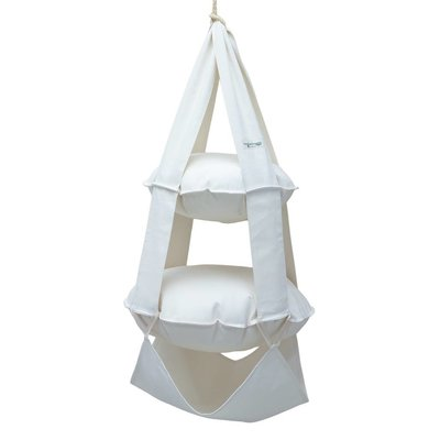 The Cat's Trapeze 2k trapeze katoen gebleekt (wit)