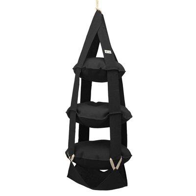 3k trapeze jute zwart