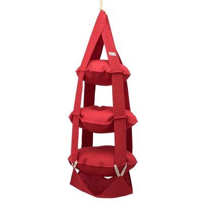 3k trapeze jute rood