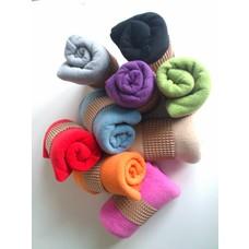 Fleece colored cushion covers