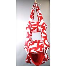 Unique Hand-made  White -Red Trapeze
