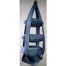3k trapeze katoen jeans blauw gewassen