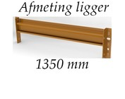 Afmeting liggers 1350 mm